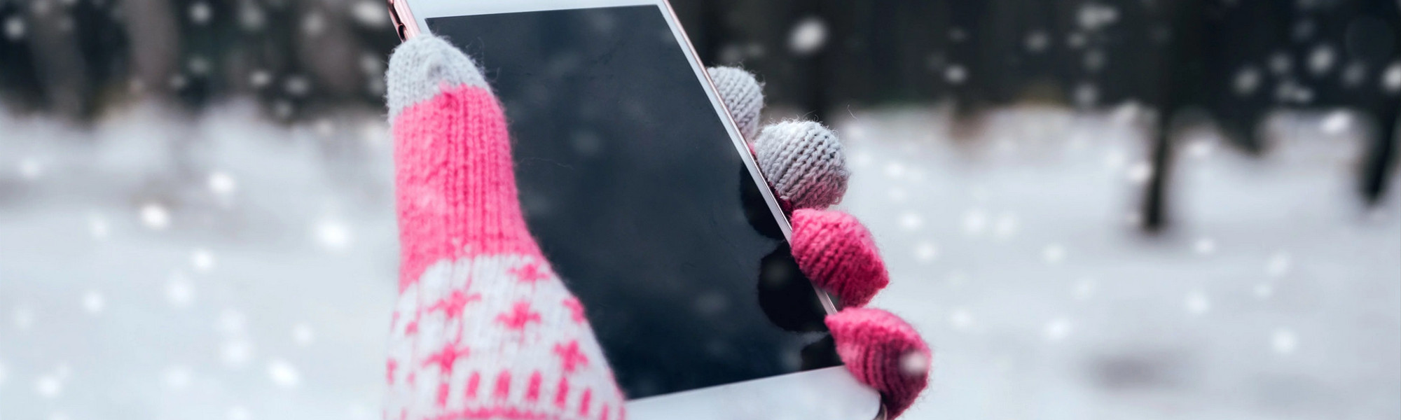 Contacter Angie ski, photo d'une main tenant un téléphone