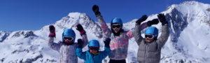 Cours de ski collectif enfant avec l'école indépendante Angie Ski à Aussois