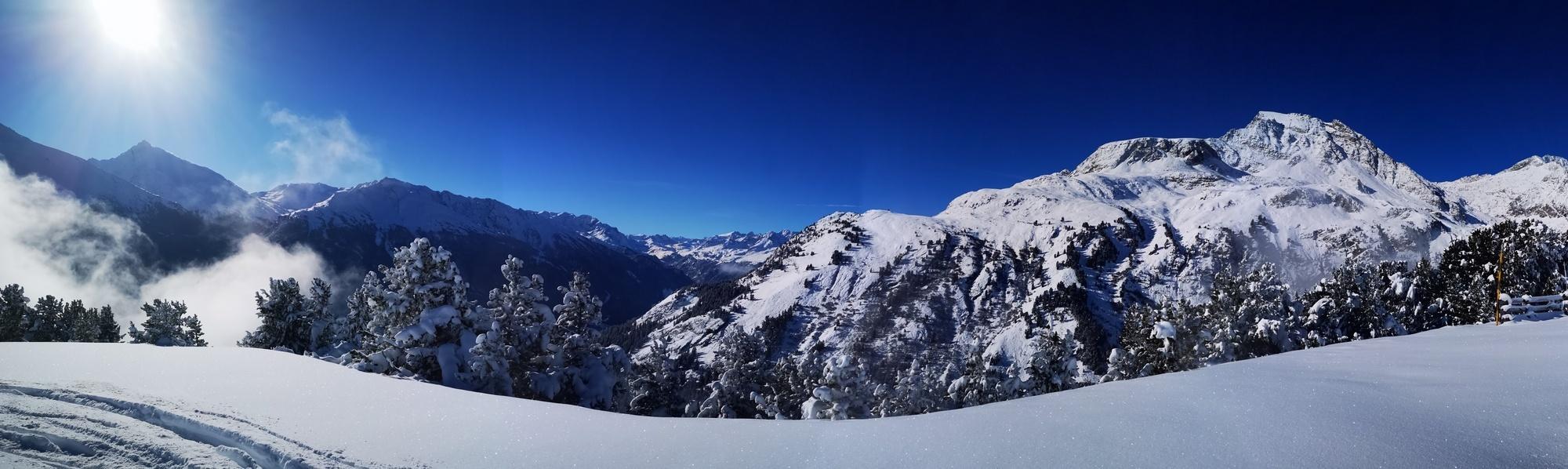 magnifique paysage d'Aussois ski randonnée et raquette